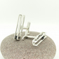 'Rolling' Kinetic Cufflinks in Sterling Silver with Black Onyx
