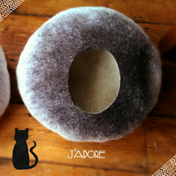 Handmade Felt Cat Cave - The Siamese - L