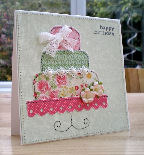 Handmade Appliqué  Birthday Card