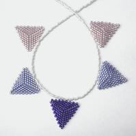 Pale Purples Beaded Bunting Necklace