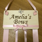 Personalised Hair Bow holder. Hand written and decorated. Pink in colour