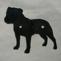 Staffordshire Bull Terrier Wall Hook