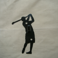 Golfer wall hook