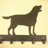 Labrador Retriever key rack hook