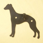 Whippet Dog Wall Hook