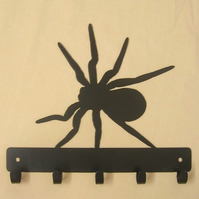 Spider silhouette hook. 5 hooks suitable for keys, coats, dog leads etc