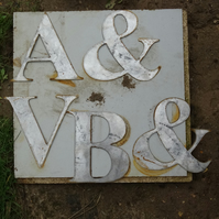 Steel letters. Raw. Rusty. 190mm high.