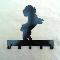 Bichon Frise key rack hook