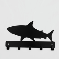 Shark silhouette hooks. 5 hooks suitable for keys, coats,etc