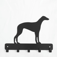 Greyhound silhouette hooks. 5 hooks for keys, coats, dog leads, etc