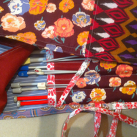 Patchwork Knitting Needle Roll