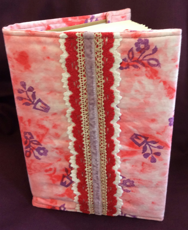 Hand Dyed and Block Printed Covered A5 Lined Notebook