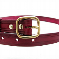 Handmade Oxblood Leather Belt