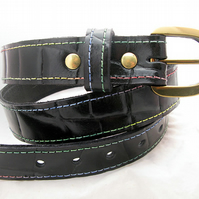 Handmade Leather Alligator Print Belt