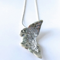 Silverwash  Butterfly Necklace
