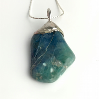 Chrysocolla Silver Dipped Necklace