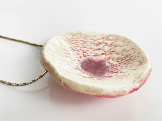 Raspberry Ripple Necklace
