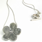 Grey Flower Ceramic Necklace