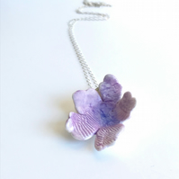 Violet Porcelain Flower Necklace