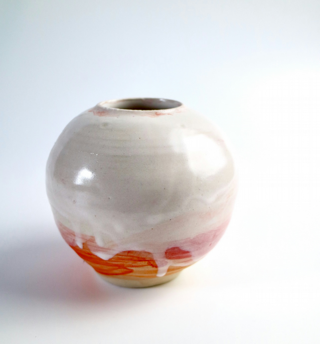 Ice-Cream Sundae Ceramic Moon Vase