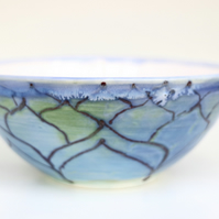 Blue Ogee Ceramic Bowl