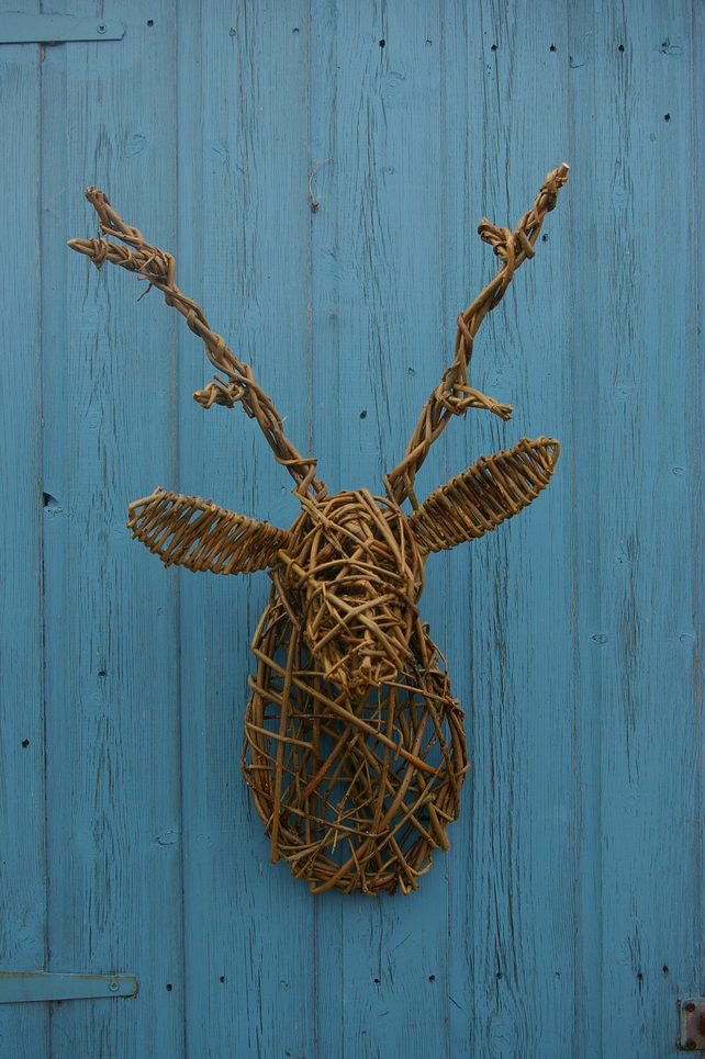 Willow Sculpted Stag Head Folksy