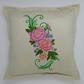 Cushion with Peony Embroidery