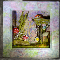Colourful Forest and Bird 3D Box Frame