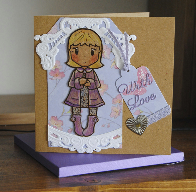 Cute Girl Card