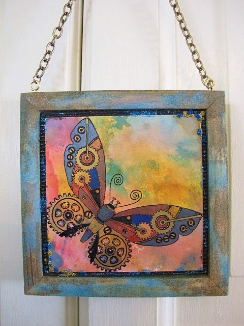 Steampunk Butterfly and Beetle Pictures - free p&p