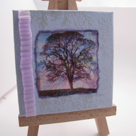 Miniature Canvas with Easel (Tree Design)