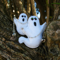 Halloween Ghosts Brooch