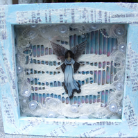 Enchanted Angel in Frozen Fantasy Frame. Free Post and Packing