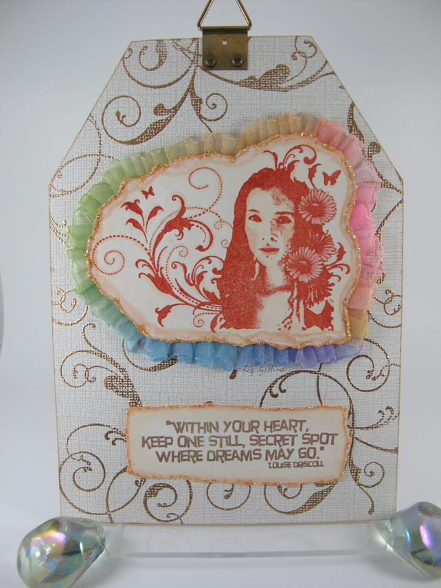 Dreams Mixed Media Tag