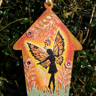 Painted Garden Fairy Tag