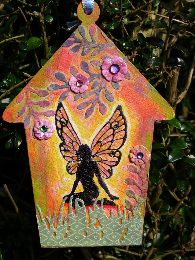 Painted MDF Fairy Tag