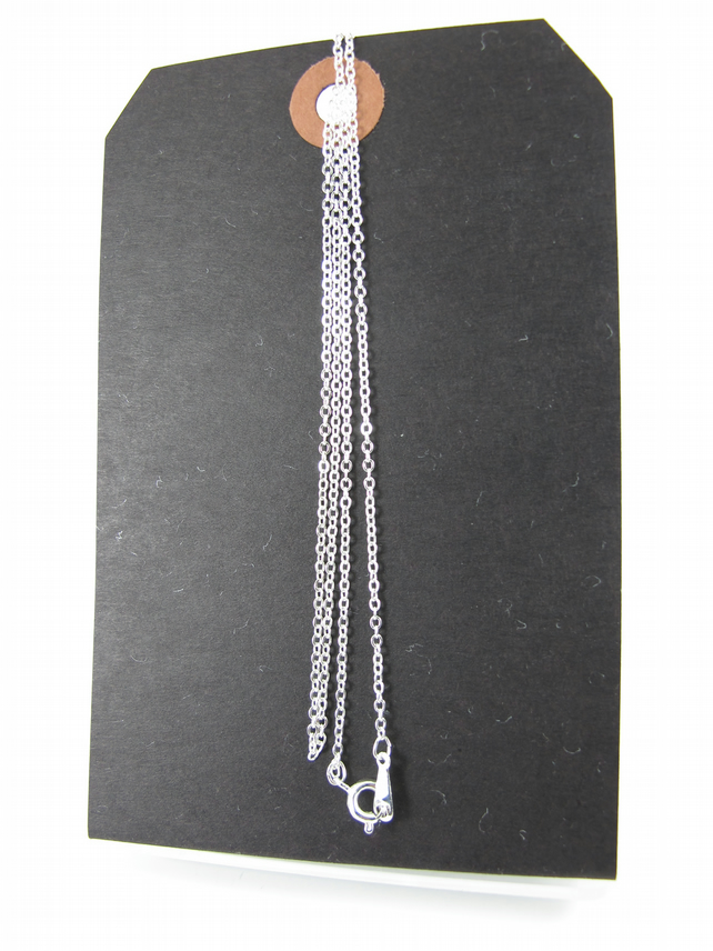Silver Plated 50cm, 20inch Fine Trace Chain, Necklace