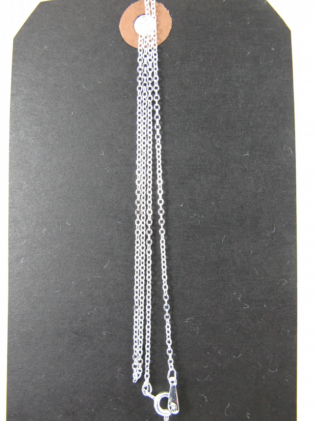 Silver Plated 56cm, 22inch Fine Trace Chain, Necklace