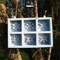 Let it Snow Hanging Snowflake Decoration