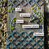 Immaculate Homes Mixed Media Upcycled ACEO
