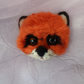 Beautiful Needle-felted Fox Cub Brooch