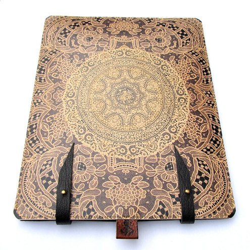 Leather iPad case - Elegant Lace
