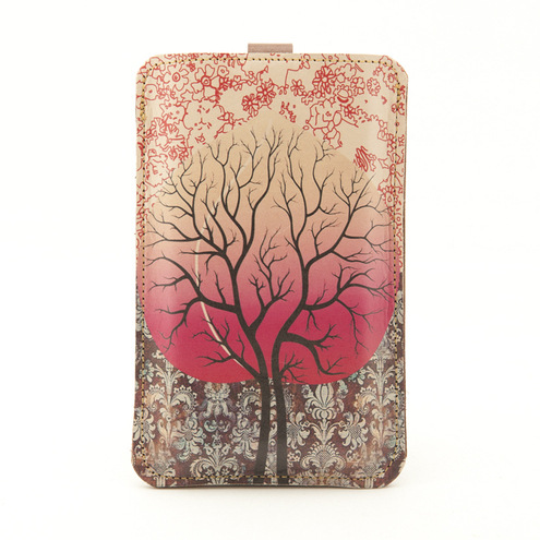 Leather iPhone (ALL) iTouch (ALL) case - Peach Tree