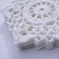 Small crochet doily set of 4