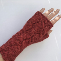 Alpaca Wrist Warmers Fingerless Gloves