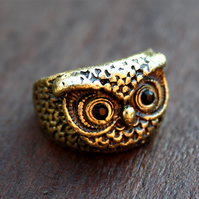 Gold Owl ring (M)