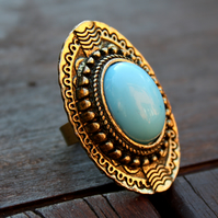 Turquoise Stone Tribal Ring