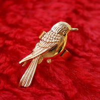 Gold Hummingbird ring