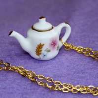 Little Teapot charm gold necklace