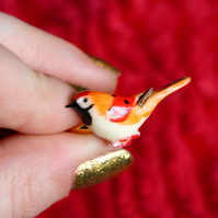Bird/flower vintage gold ring set